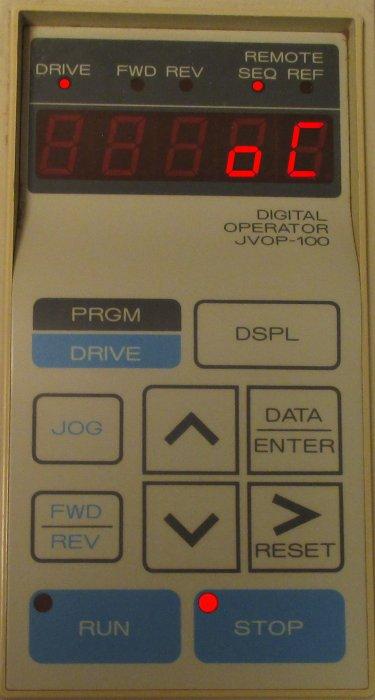 Magnetek GPD 503 fault indication