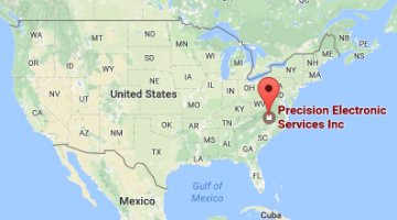 Map USA | Precision Electronic Services, Inc