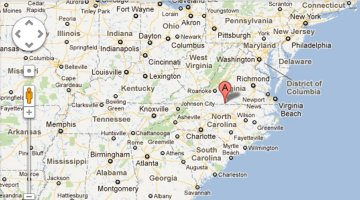 Map East Coast | Precision Electronic Services, Inc