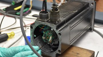 Quality Control Techniques Servo Motor Repair | Precision Electronic Services, Inc